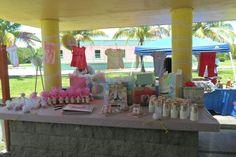 Decoracion mesa principal baby showers
