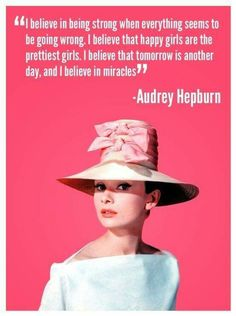 An awesome quote by the awesome Audrey Hepburn