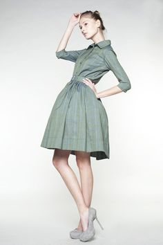 Adorable 50s Mad Men Woolen Dress von mrspomeranz auf Etsy
