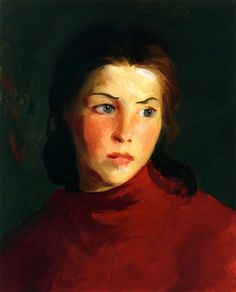 Irish Girl (Mary Lavelle) Robert Henri (American, Oil on panel. The work was painted on Achill Island, during Henri's visit to Ireland. The bright eyes, full mouth and dark hair. American Realism, American Art, William Glackens, Ashcan School, Robert Henri, Most Famous Artists, Irish Girls, Oil Painting Reproductions, Artist At Work