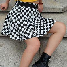 47ebc67bfb Pleated Checkerboard Skirts Womens High Waisted Checkered Skirt Harajuku  Dancing Korean Style Sweat Short Mini Skirts
