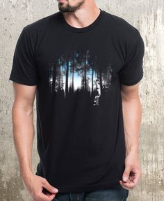 d4517476 Men's Graphic T-Shirts. Board owner. Follow. Crafting the perfect forest  landscape takes time and this original illustration showcases a man nearly  finished