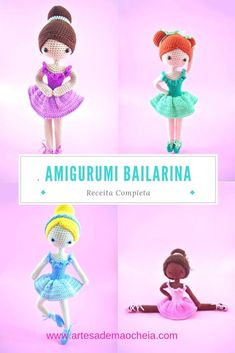 As 8 Melhores Receitas de Bonecas Amigurumi em Português - Artesã de Mão Cheia Crochet Disney, Crochet Amigurumi Free Patterns, Crochet Hats, Amigurumi Doll, Diy And Crafts, Dolls, Blog, Doll Face, Crochet Batman