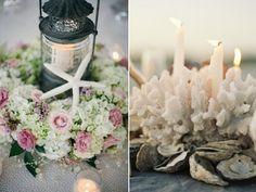 Visit mylovelywedding.com, Starfish and Shell, Beautiful Wedding Candle Light, Centerpieces, Beach Weddings, Summer Wedding, Wedding at Sea #nauticalweddings