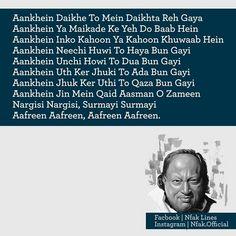 most favorite lines Best Urdu Poetry Images, Love Poetry Urdu, Nfak Quotes, Nfak Lines, Nusrat Fateh Ali Khan, Mola Ali, Imam Ali Quotes, Sufi Poetry, Islamic Quotes