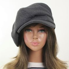 Women Wool Unisex 6Panel Applejack Cap Fashion Gatsby Newsboy Driving Cabbie Hat #VCMJ #NewsboyCabbie