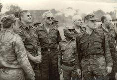 Soviets and Angolans on a visit to southern Angola in 1984.