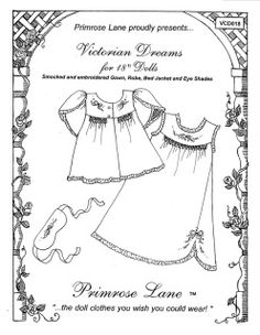 18 inch doll patterns primrose lane Gym Outfit 18 Inch Doll these clothing patterns have been designed specifically for the 18 american girl doll by pleasant