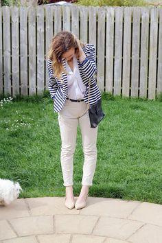 Spring outfit nautical blazer- Anna Saccone