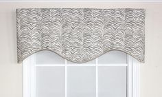 Leopard Cornice Valance in Bisque.