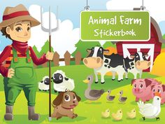 App Shopper: Animal Farm Stickerbook Fun activity for kids Games