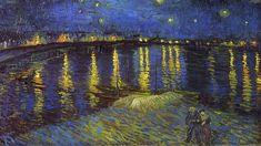 1920x1080 바탕화면, 고흐,아를의 별이 빛나는 밤, 배경화면