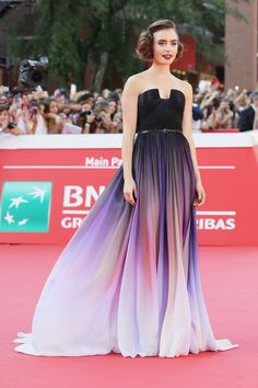 Best dressed - Lily Collins in an Elie Saab gown