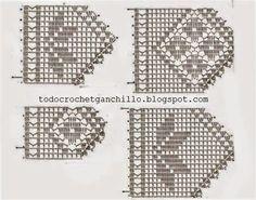 Crochet Borders, Filet Crochet, Knit Crochet, Crochet Curtains, Charts And Graphs, Free Pattern, Cross Stitch, Diagram, Knitting