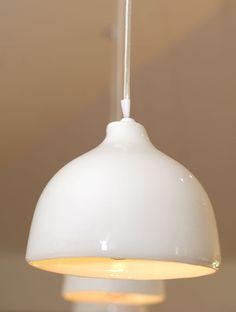 White Porcelain Pendant Light