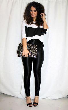 disco pants & stripes - me: shirt: tobakko // disco pants, bag