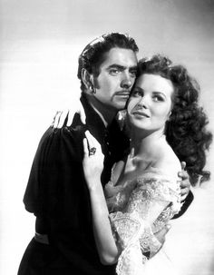 Tyrone Power & Maureen O'Hara in The Black Swan...my favorite part is when Tyrone makes Maureen say his name (Jamie Boy) 3xs lol