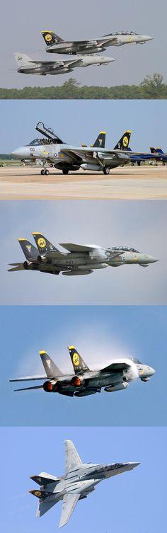 "Grumman F-14D Super Tomcats of VF-31 ""Tomcatters"" squadron"