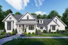 Modern Farmhouse Plans, Farmhouse Design, Farmhouse Style, Craftsman Farmhouse, Craftsman Style, Cottage Farmhouse, White Farmhouse, French Cottage, The Plan