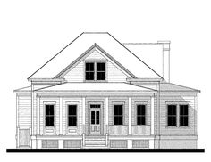 Goodean Beach House(variation) House Plan (12336) Design from Allison Ramsey Architects
