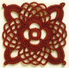 SOLO PUNTOS: Crochet cuadrados, pentagonos, estrellas