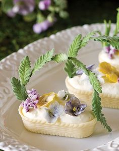 Making Lavender Handles for White Chocolate Baskets - Such a beautiful presentation for a Spring time tea! / Teatime Magazine