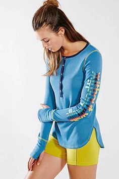 Without Walls Long-Sleeve Henley Top - Urban Outfitters