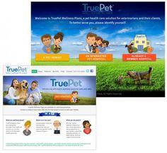 TruePet Wellness Plans - Keep pets happy and healthy! #HealthyPet #veterinary #webdesign
