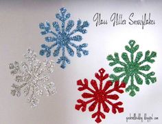 creating in glass slippers: DIY Glitter Snowflake Ornaments