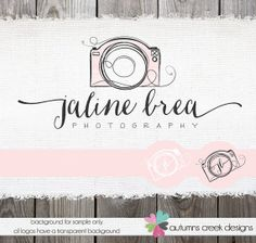 Premade Logo with Camera   Hand Drawn Sketched by autumnscreek, $45.00