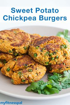 Make your own veggie burger with this sweet potato chickpea recipe from @cooksmarts. They take just 35 minutes to make and are packed with of potassium & fiber.