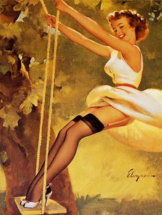 """With the Greatest of Ease"" 1959 - Gil Elvgren"