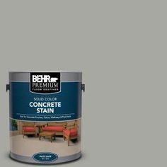 Slate Gray Solid Color Flat Interior/Exterior Concrete Stain - 80001 - The Home Depot Acid Stained Concrete, Painting Concrete, Concrete Countertops, Copper Interior, Flat Interior, Interior And Exterior, Concrete Porch, Concrete Bricks