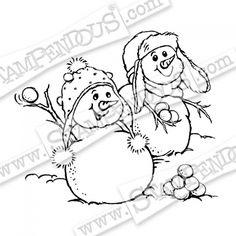 Snowball Fight Stamp