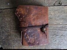 Goat Leather Notebook Rustic Brown OOAK stained Paper Ready to Ship by ArtNotebooks on Etsy Handmade Market, Handmade Gifts, Leather Notebook, Craft Sale, Goats, Great Gifts, Arts And Crafts, Rustic, Wallet