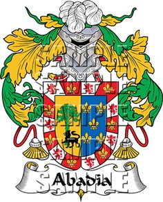 Abadia Family Crest apparel, Abadia Coat of Arms gifts