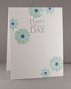 Handmade Mother's Day card by Lynn Mangan using the Be Blessed set form Verve.  #vervestamps