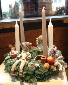 Couronne / Christmas wreath & little childrens