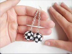 Tutorial orecchini perle ingabbiate con tila beads - YouTube