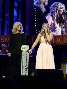 Here's beautiful Lauren Alaina with her beautiful mother tonight at the Grand Ole Opry. (April 21,2015)