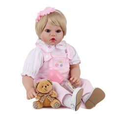 Candid Latest New With Basket 55cm Full Silicone Reborn Boneca Realista Fashion Baby Dolls For Princess Children Gift Bebes Reborn Toys & Hobbies Dolls