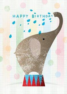 28 New ideas birthday ilustration kids etsy Happy Birthday Elephant, Happy Birthday Baby, Happy Birthday Greetings, Birthday Wishes, Birthday Cards, Elephant Love, Elephant Art, Elephant Shower, Elephant Illustration