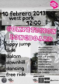 Campeonato #longboard ... paseo del oeste ... 10 de febrero ...  http://eskt.es/long1