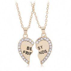 Meilleure amie Colliers pour filles//enfants Flamants Pendentif Argent Colliers Lot de 2 Best Friends Cadeaux