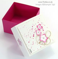3x3 Car Box for Swaps for US Stampin' Up! Convention 2014 Tutorial Open.... made this