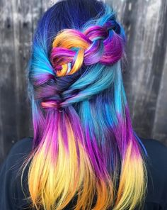 35 Pretty Hairstyles Ideas To Try Asap simple hairstyles pretty hairstyles new hairstyle hairstyle h Beautiful Hair Color, Cool Hair Color, Yellow Hair, Purple Hair, Turquoise Hair, Neon Hair, Violet Hair, White Hair, Funky Hairstyles