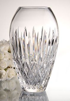 """Waterford Monique Lhuillier Arianne 9"""" Vase Baccarat Crystal, Crystal Glassware, Crystal Vase, Waterford Crystal, Monique Lhuillier, Cut Glass, Glass Art, Vases, Crystal Collection"""