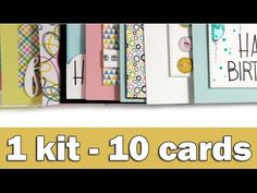 Step by step video on creating 10 cards by using the September 2016 SSS card kit -- she always has great ideas.
