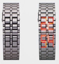 Faceless LED Watch - Whats the time please? Uhm...uhm...aaaargh...there look for yourself!!