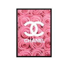 Chanel Poster, Chanel Print, Ariana Grande Poster, Women Poster, Typography Prints, House Painting, Flower Prints, Wall Prints, Pink Roses